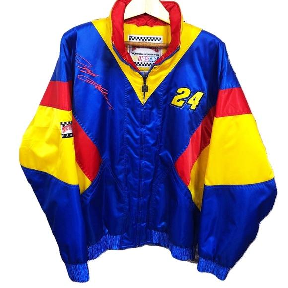 Vintage 1990s Jeff Gordon Nutmeg NASCAR Racing All Over Print Jacket
